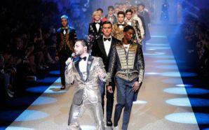 Maluma canta en la pasarela de Dolce & Gabbana