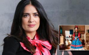 Molesta a Salma Hayek muñeca de Frida Kahlo