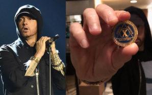 Eminem celebra 10 años sin beber alcohol