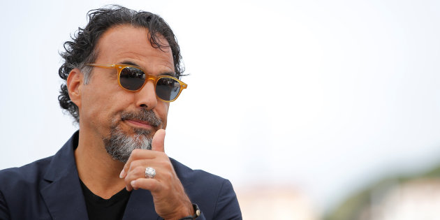 """70th Cannes Film Festival - Photocall for the installation """"Carne y Arena"""" (virtually present, physically invisible) presented as part of virtual reality event - Cannes, France. 22/05/2017. Director Alejandro Gonzalez Inarritu poses. REUTERS/Stephane Mahe"""