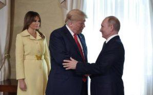 El extraño gesto de Melania cuando saludó a Putin