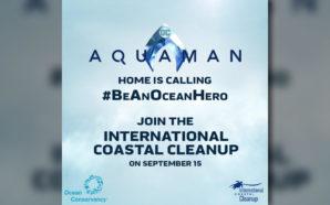"""""""Aquaman"""" invita a limpiar las playas mexicanas"""